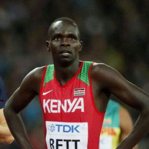 Queniano Kipyegan Bett, medalhista de bronze nos 800m, é provisoriamente suspenso por se recusar a fazer um teste antidoping
