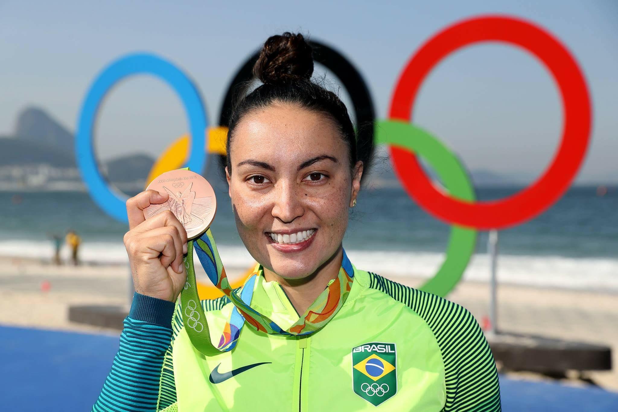 Sesc Consolação, o público pode conhecer a Maratona Aquática com a ex-atleta Poliana Okimoto, medalhista de ouro no Campeonato Mundial de 2013 | Foto: Satiro Sodre