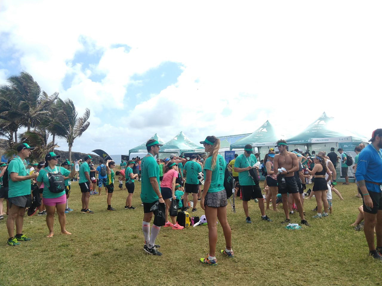 Área de descanso dos atletas Foto: Christina Volpe/Webrun