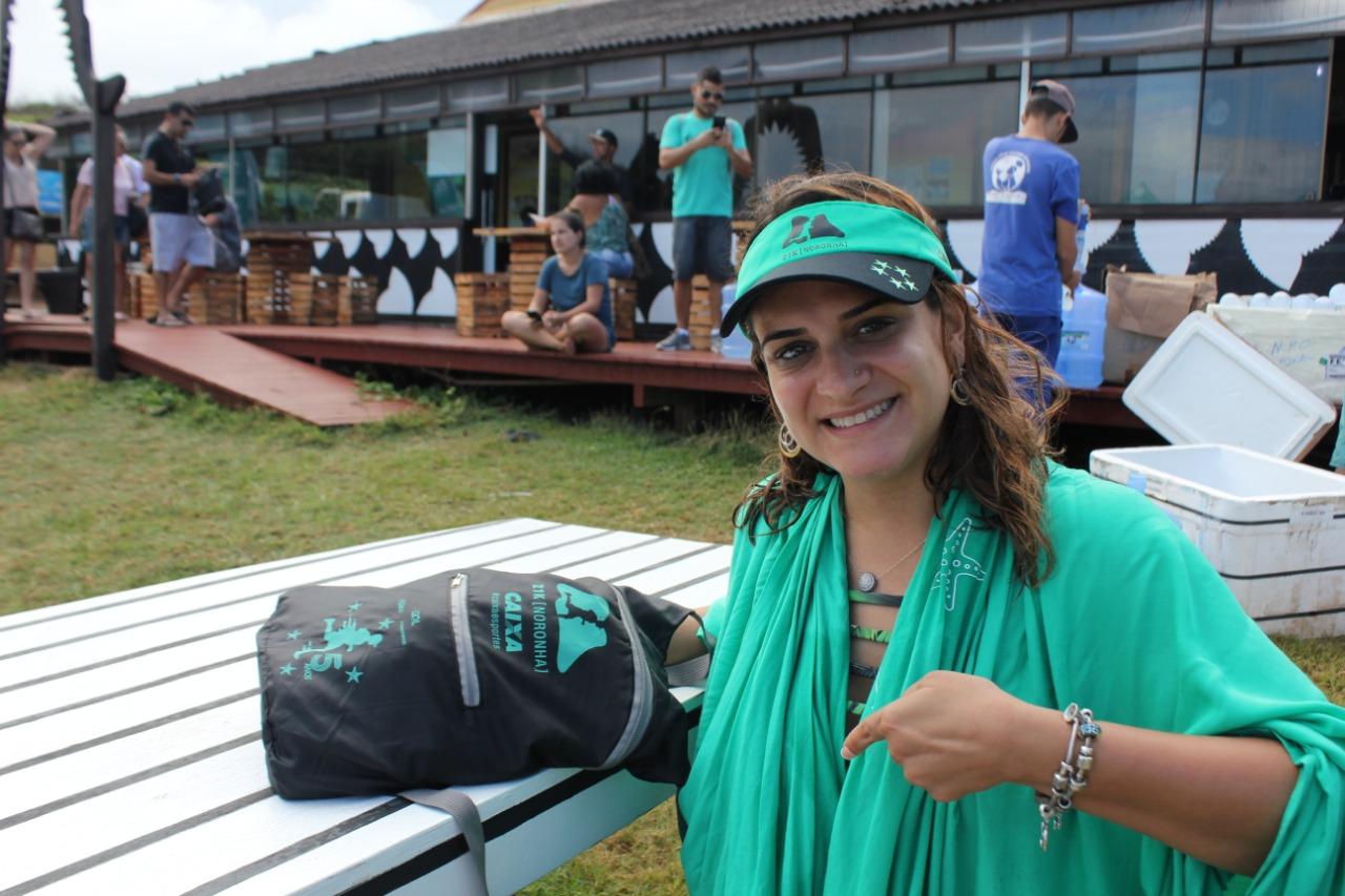 Carolina, corredora e apaixonada pela Ilha Foto: Christina Volpe/Webrun