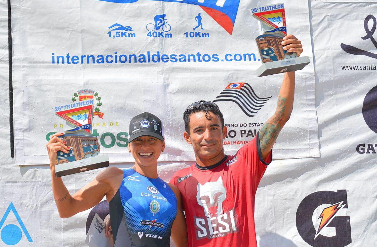 Bia Neres e Flávio Queiroga venceram a prova em 2017. Foto: João Pires/SantosPress Comunicação