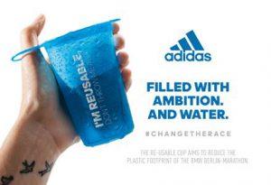 Adidas oferece copos reutilizáveis na Maratona de Berlim 2018