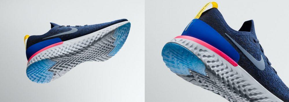 O Nike Epic React Flyknit é o primeiro tênis de corrida a contar com a espuma Nike React Foto: Divulgação