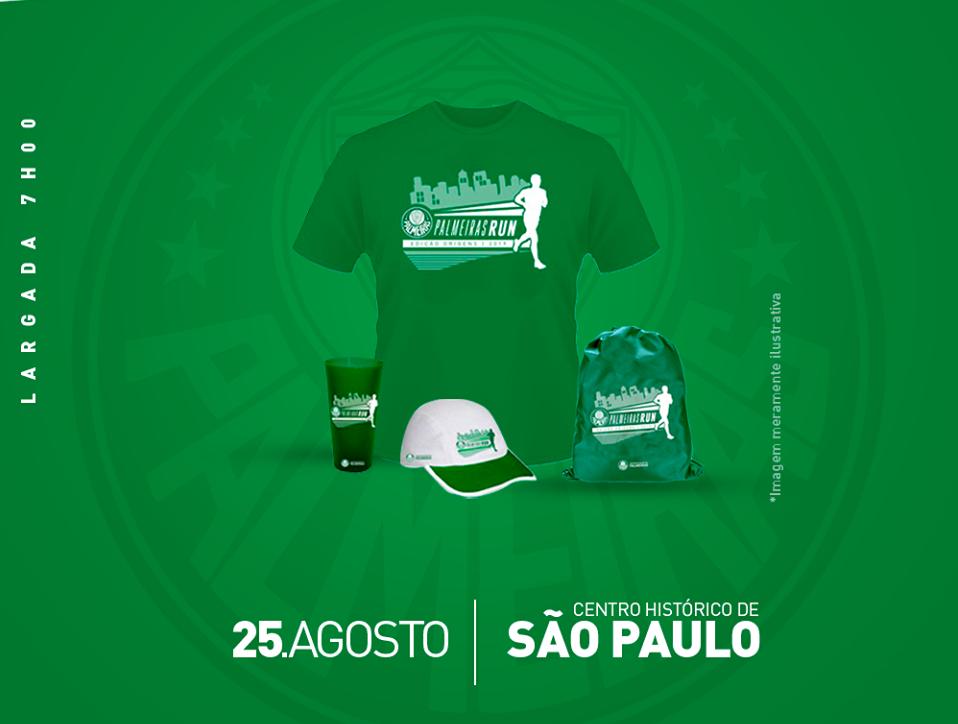Verdão realiza edição especial da Palmeiras Run para celebrar 105 anos do clube - Foto: divulgação
