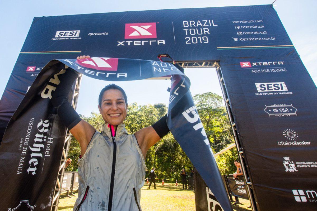 Bella Ribeiro foi a vencedora do duathlon no XTerra Agulhas Negras - Foto: César Delong / Foco Radical