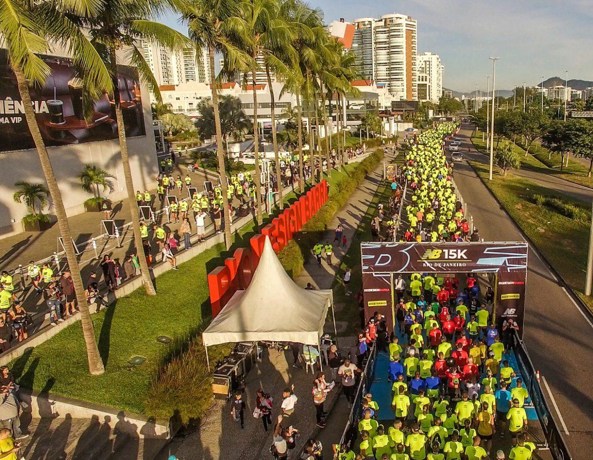New Balance 15K Rio de Janeiro reuniu 2.000 corredores no último domingo new balance 15k brasília - Foto: Divulgação