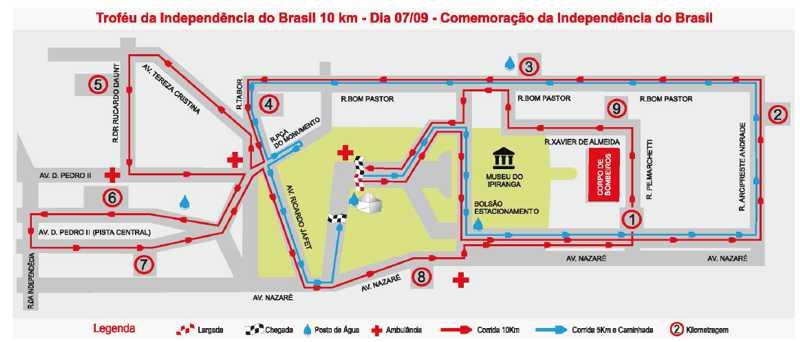 Falta apenas um mês para o XVIII Troféu Da Independência do Brasil 10 Km - Foto: Divulgação