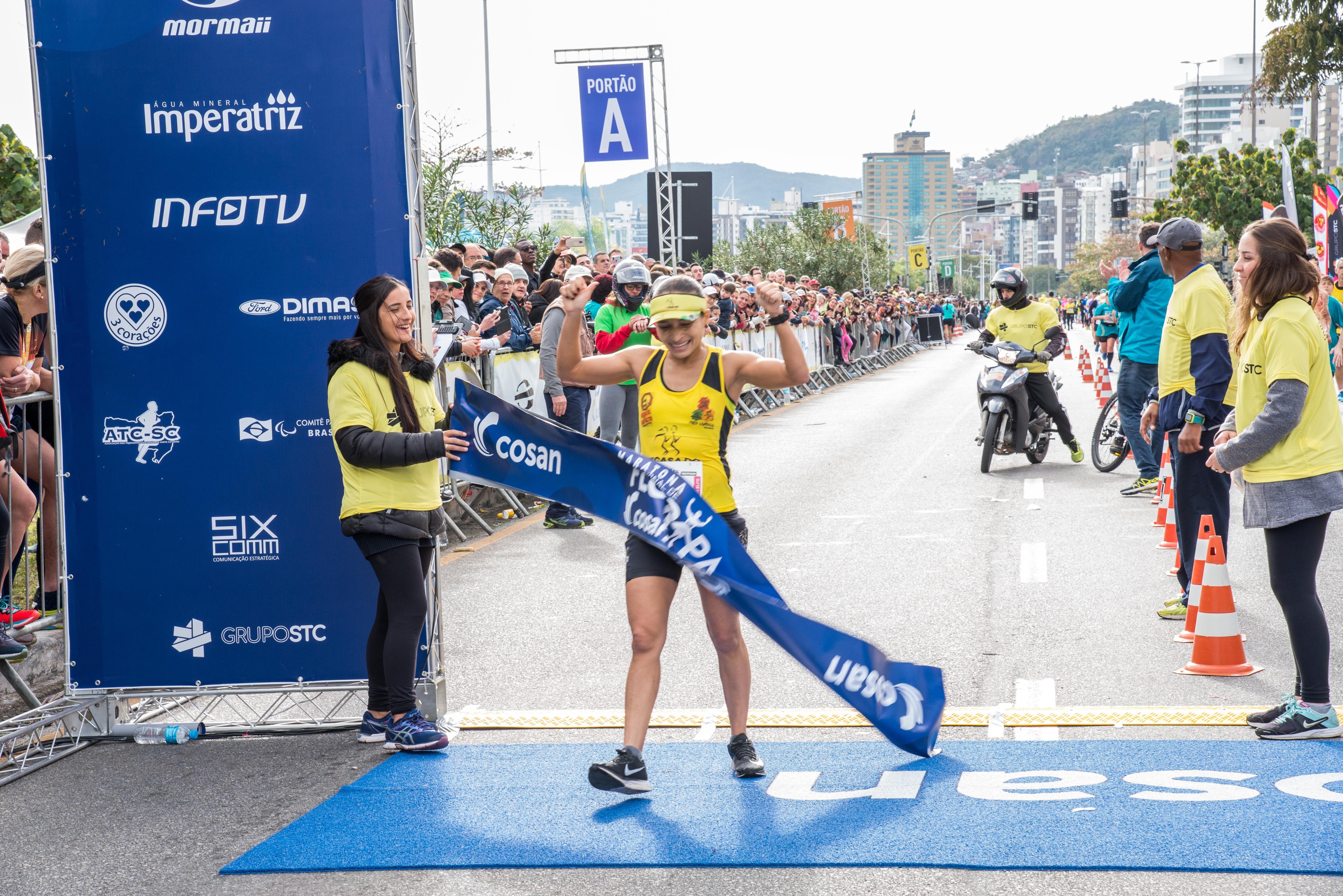 Adilson Dolberth e Janaina Santana são os campeões da Maratona Internacional de Floripa Cosan 2019