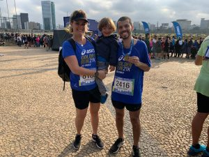 A família depois da Asics Golden Run - Foto: Leonardo Boscolo/Webrun