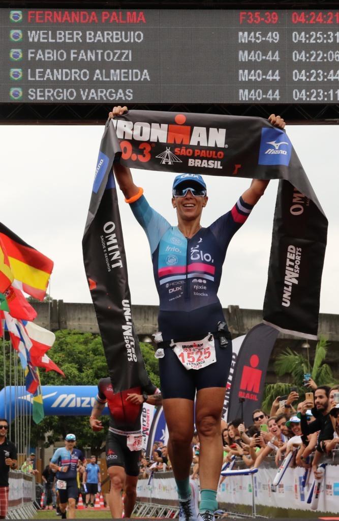José Belarmino e Fernanda Palma foram os campeões do Ironman 70.3 São Paulo