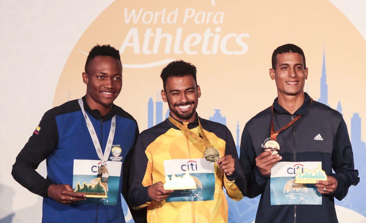 Com seis ouros, Brasil inicia a semana no segundo lugar do Mundial de Atletismo Paralímpico