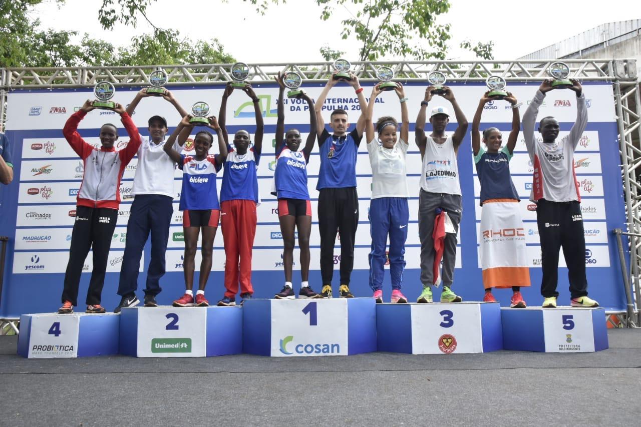 Brasileiro e Quêniana vencem a Volta Internacional da Pampulha 2019