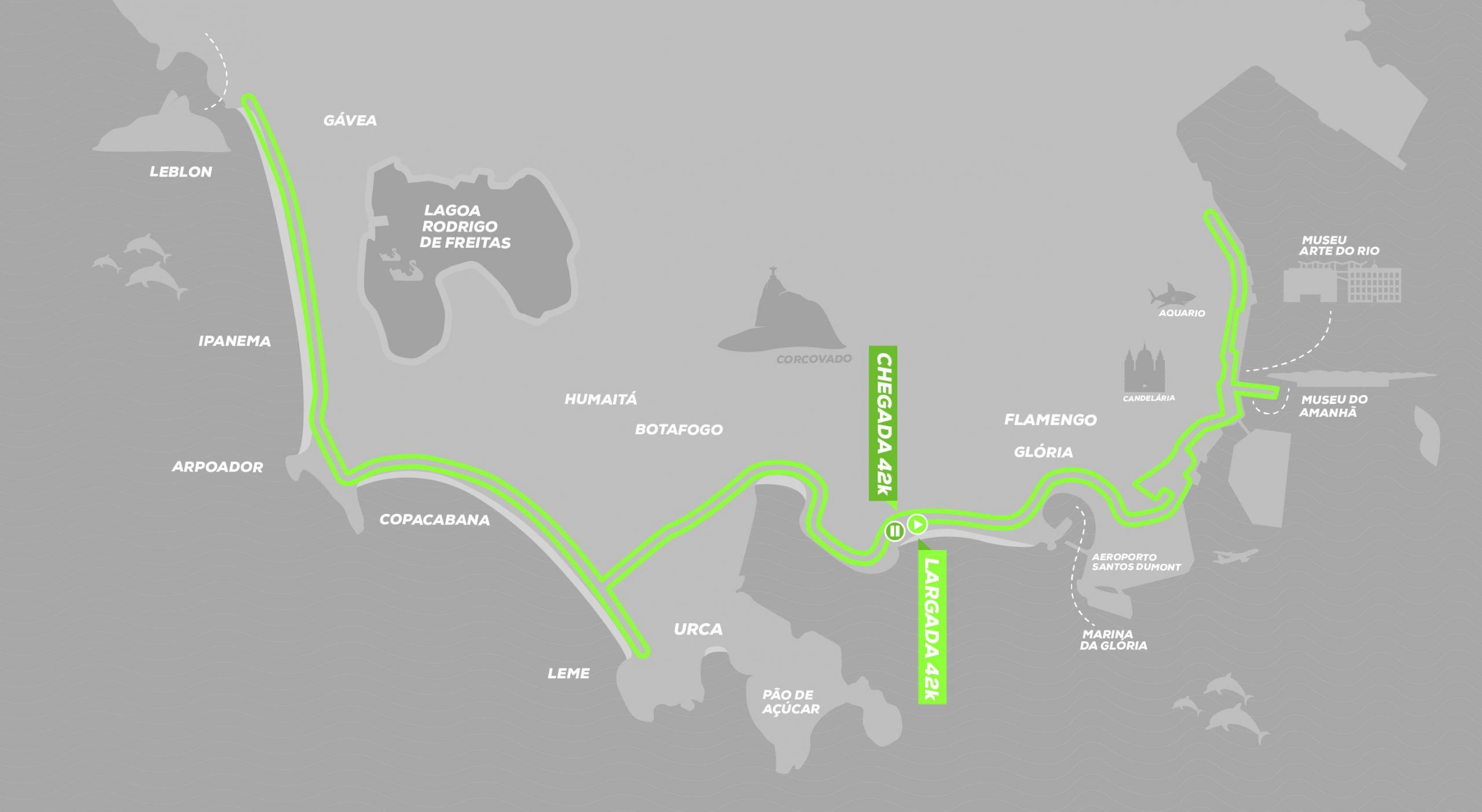 Percurso Maratona do Rio 2020/ Divulgação
