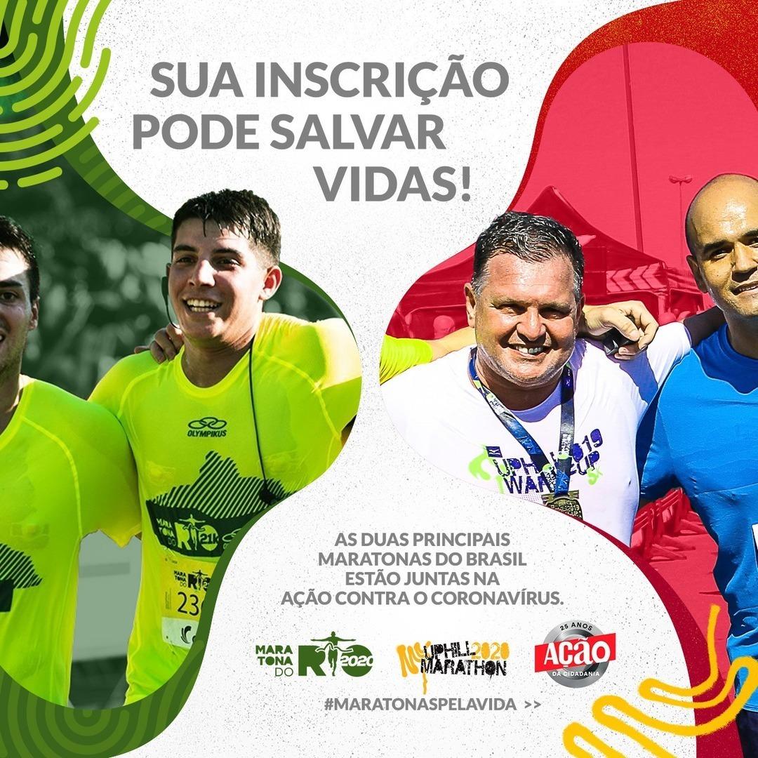 Maratona do Rio e Uphill Marathon se unem no combate ao COVID-19