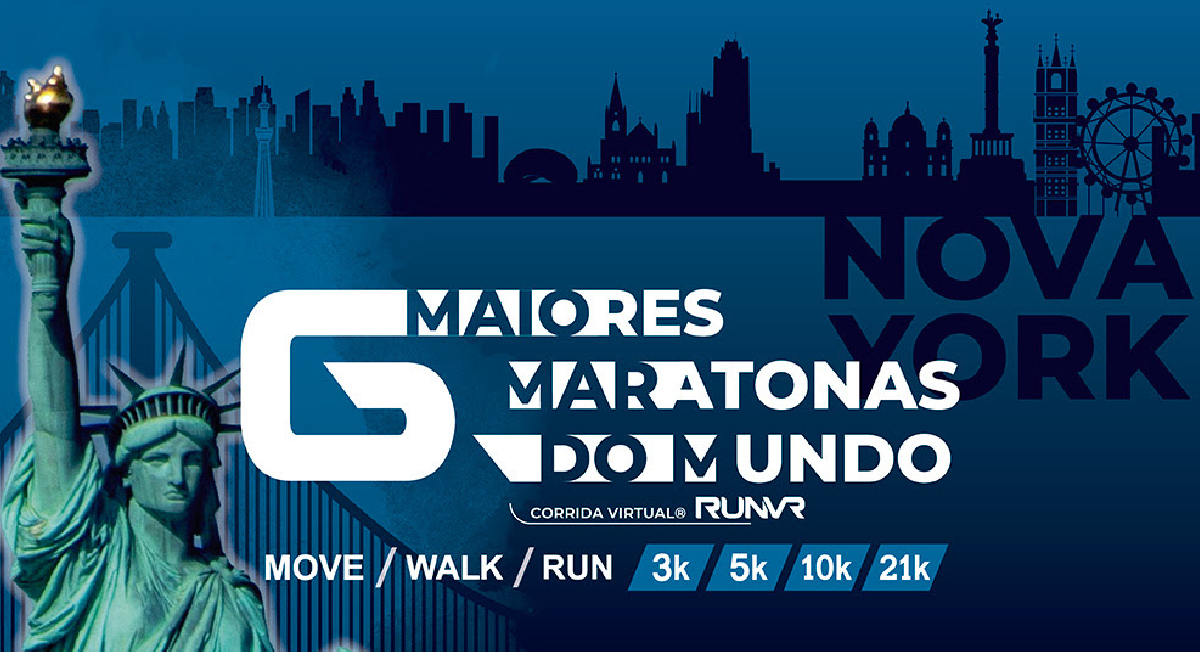 Corrida Virtual RUNVR traz desafios inspirados nas Major Marathons