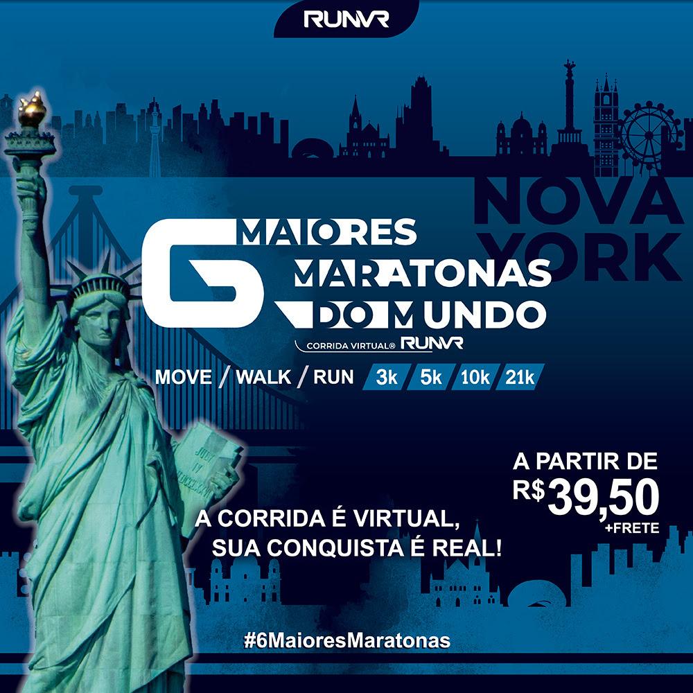 Corrida Virtual RUNVR traz desafios inspirados nas Major Marathons