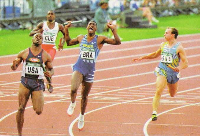 Medalha de bronze no 4x100 m de Atlanta completa 24 anos