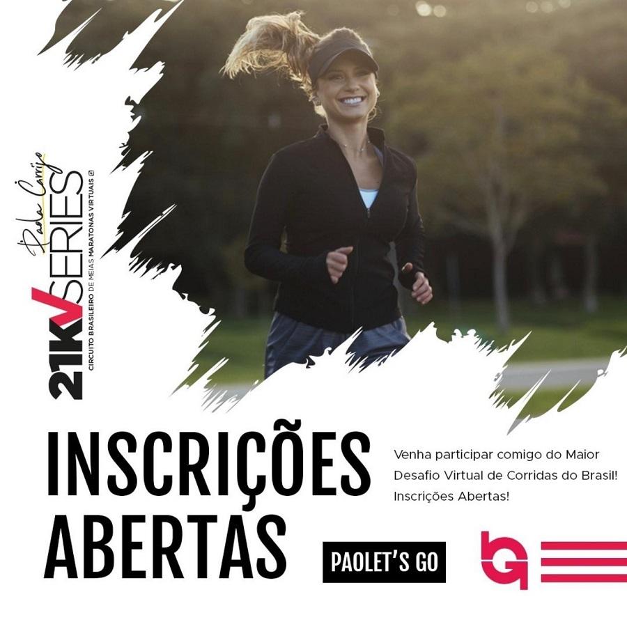 Circuito de meias maratonas virtuais terá desafio da Paola Carrijo