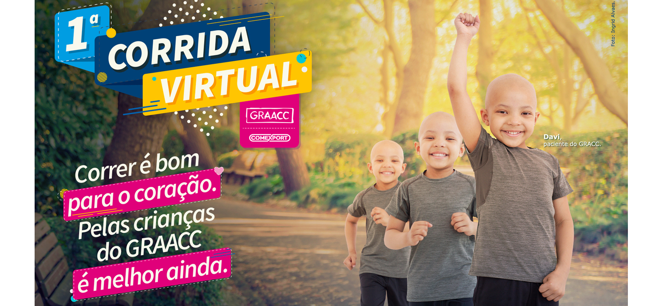 GRAACC promove 1ª Corrida Virtual para arrecadar recursos destinados ao combate do câncer infantojuvenil