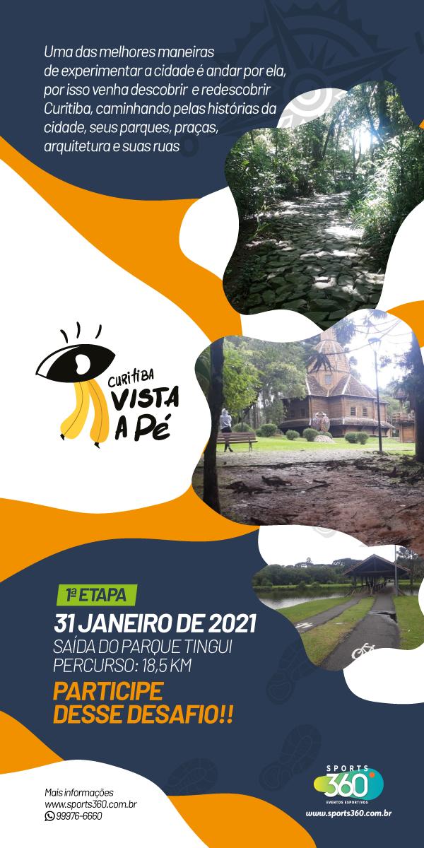 Curitiba Vista a Pé abre o calendário de eventos da cidade em 2021