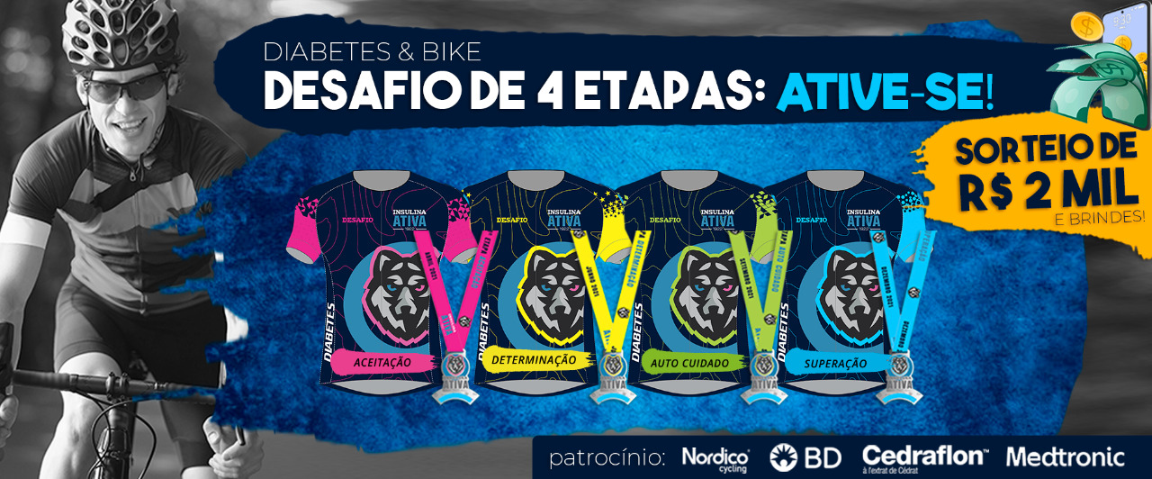 Desafio Ative-se: pedalando pelo controle do diabetes no Brasil, saiba como participar