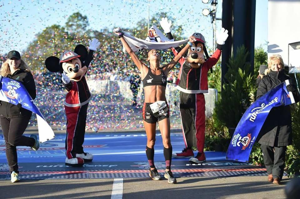 Giovana tornou-se tricampeã do evento Foto: Divulgação Disney