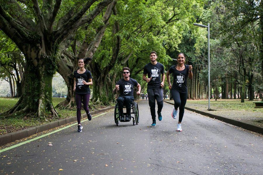 Atletas testam nova sinalização no Parque do Ibirapuera Foto: Divulgação