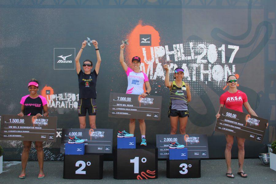 Pódio feminino dos 42 km Foto: Christina Volpe/Webrun
