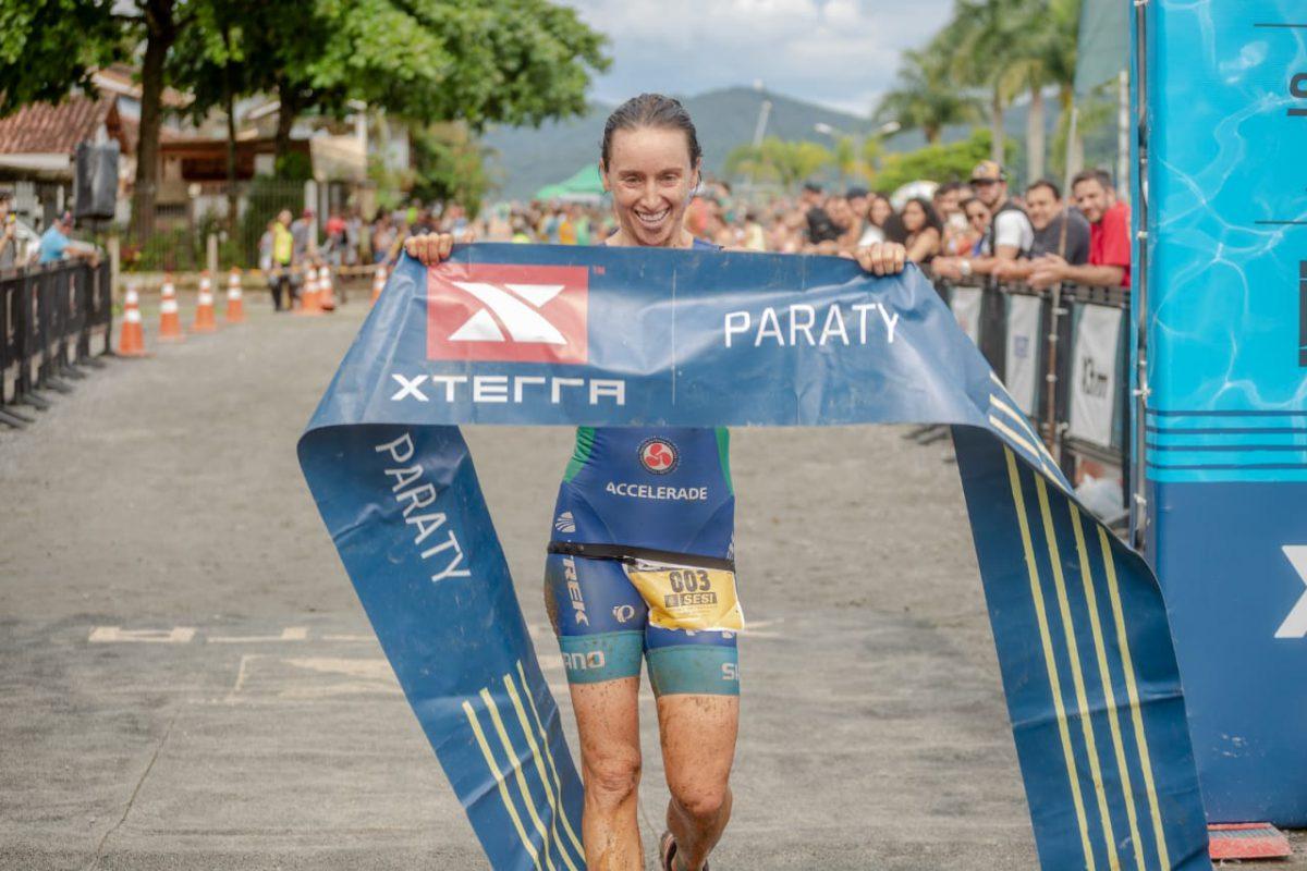 Sabrina Gobbo foi pentacampeã do triathlon /Foto: Bruno Meneguitti
