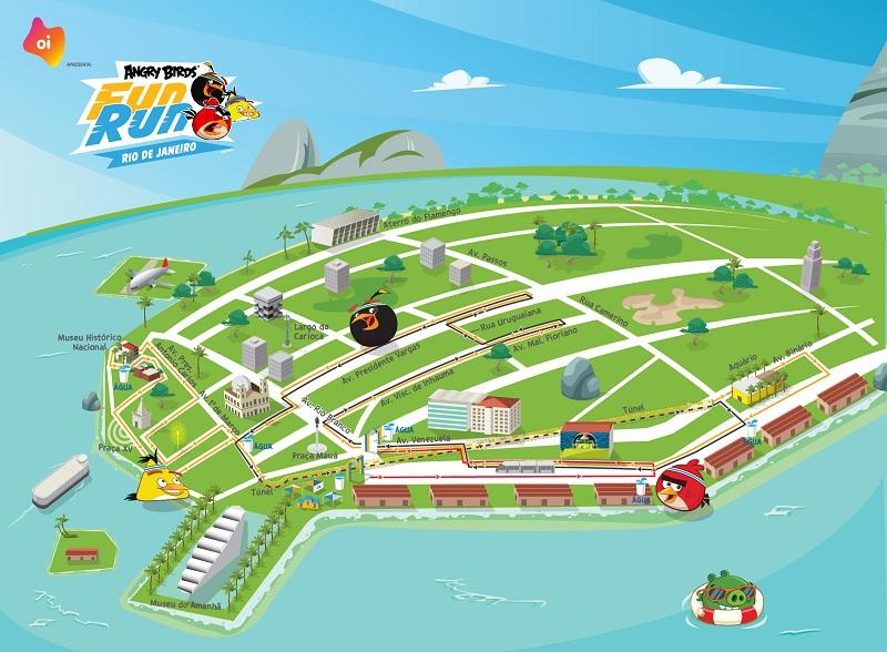 Mapa do percurso Foto: Divulgação
