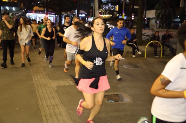 """Karina participa de """"crews de corrida"""" em São Paulo Foto: Arquivo Pessoal"""