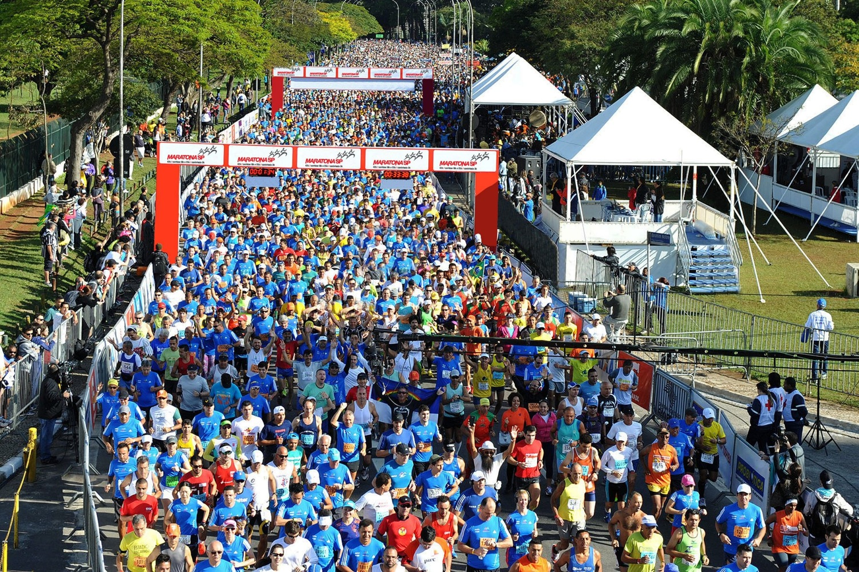 A Maratona de São Paulo é uma das provas mais tradicionais da capital paulistana Foto: Divulgação